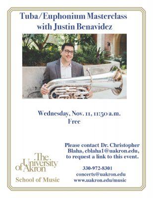 Tuba/Euphonium Masterclass with Justin Benavidez