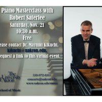 Piano Masterclass with Robert Saterlee