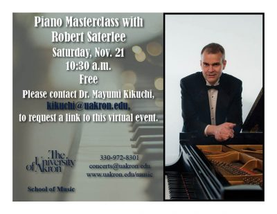 Piano Masterclass with Robert Saterlee
