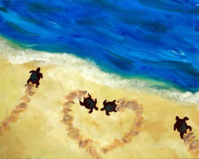 Love Turtles Painting at Olesia's