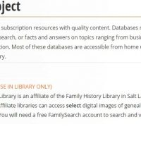 Using FamilySearch in Your Genealogy