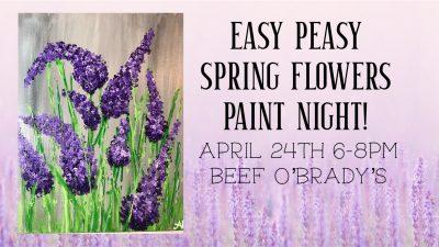 Easy Peasy Spring Flowers Paint Night