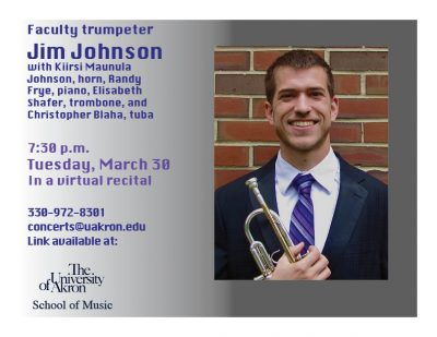 Faculty trumpeter Jim Johnson
