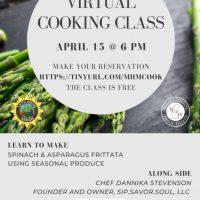 Virtual Cooking Class- Minority Health Month with Chef Dannika Stevenson
