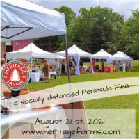 Peninsula Flea at Heritage Farms – Only 2 more markets this summer!