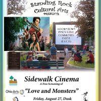 Standing Rock Cultural Arts Presents Sidewalk Cinema Love and Monsters