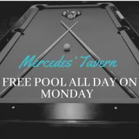 Free Pool Monday at Mercedes'