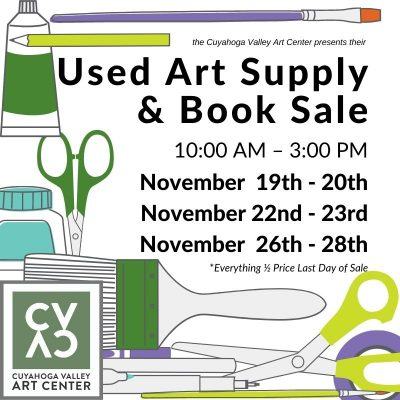 Used Art Supply & Book Sale
