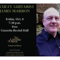 Faculty guitarist James Marron