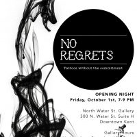 """""""No Regrets"""" (Tattoos without Commitment) Work by Audrey Henry and Wendi Koontz"""