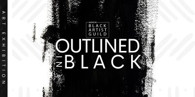 Art Exhibition   Outlined in Black